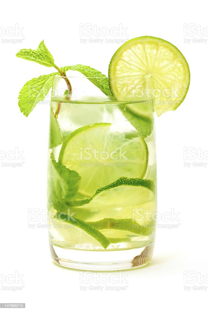 Mojito Cocktail in a Glass Beaker royalty-free stock photo
