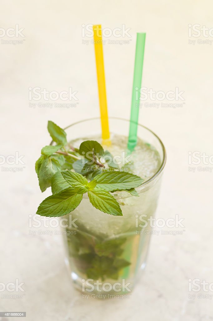 Mojito Cocktail In Glass stock photo