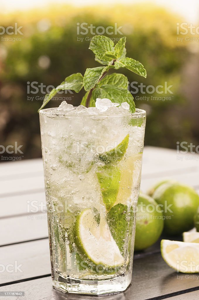 Mojito cocktail outdoor close up royalty-free stock photo
