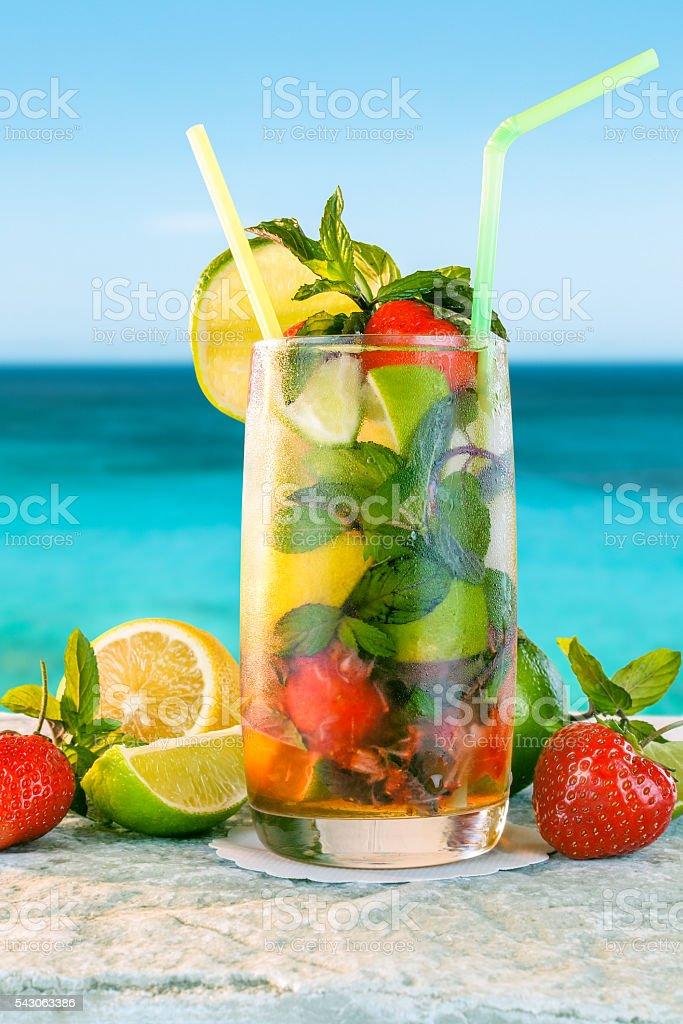 Mojito cocktail stock photo