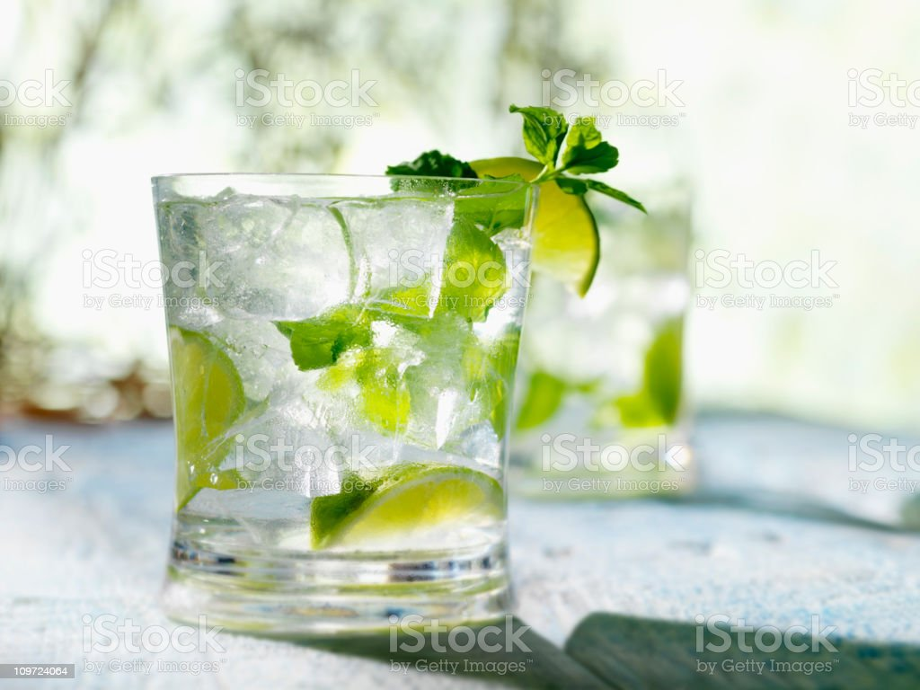 Mojito with White Rum Mint & Lime stock photo