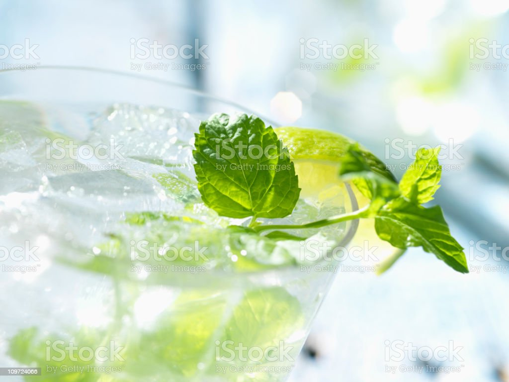 Mojito with White Rum Mint & Lime royalty-free stock photo
