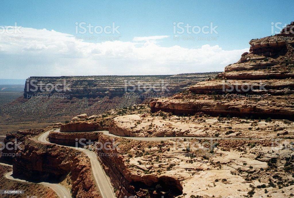 Moki Dugway Muley point road, Valley of the Gods, Utah stock photo