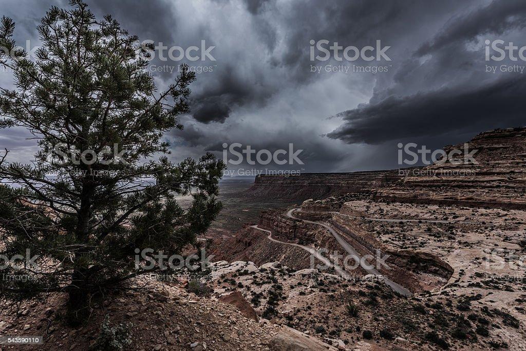 Moki Dugway Overlook stock photo