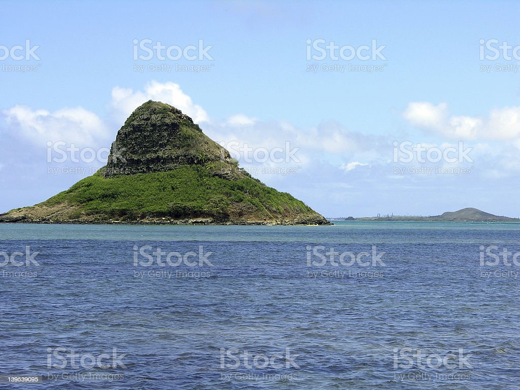 Mokolii (Chinamans Hat) Island stock photo