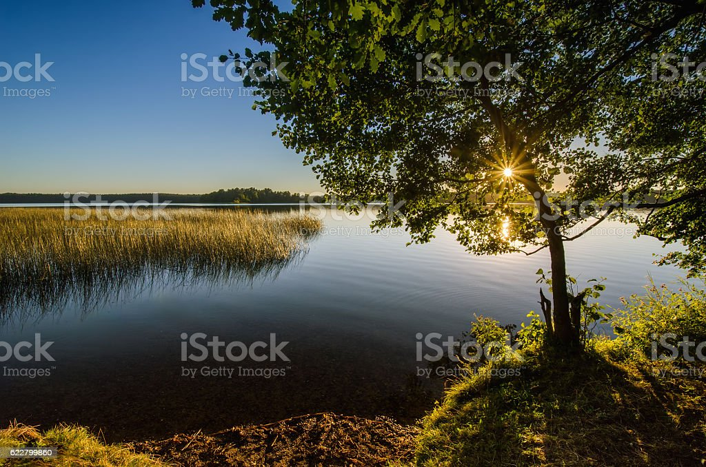 Mokre Lake stock photo