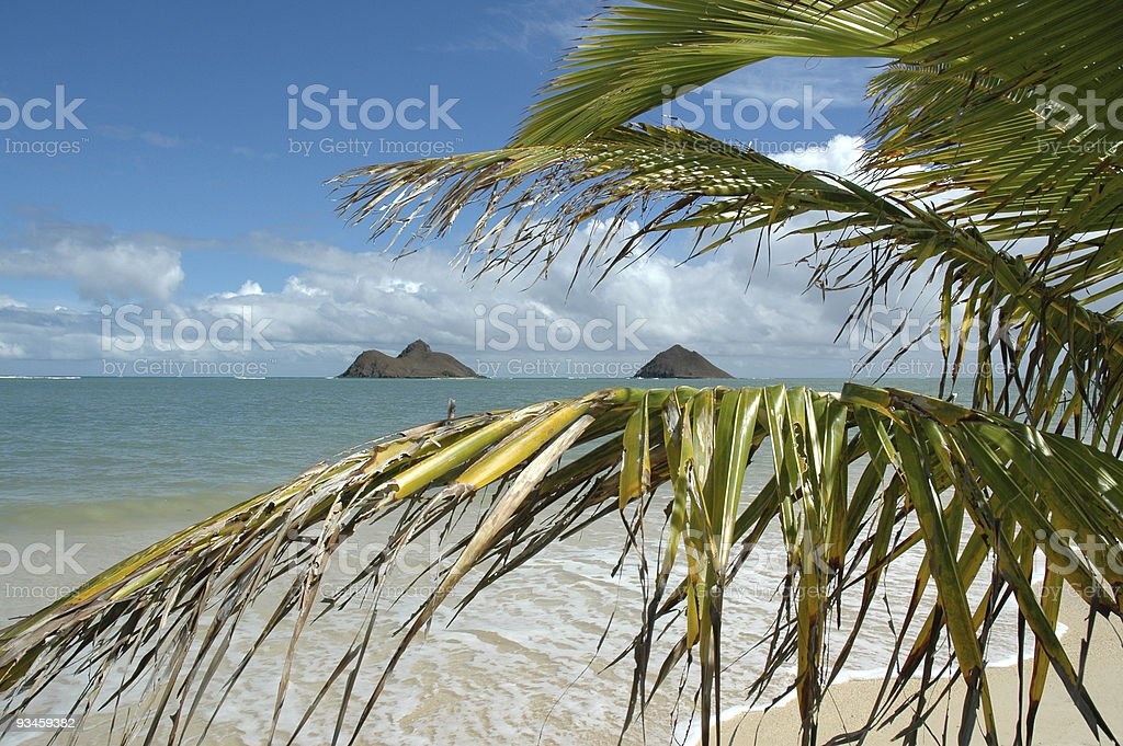Mokulua Islands Series, Lanikai, Oahu stock photo