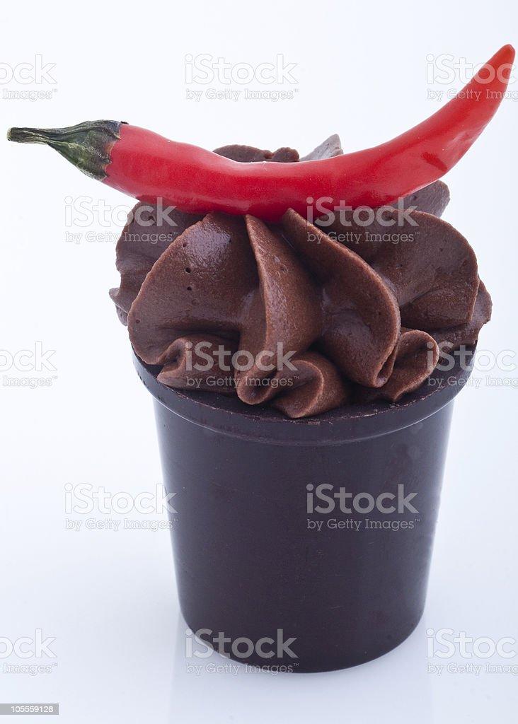 Molé Ganache With Chili stock photo