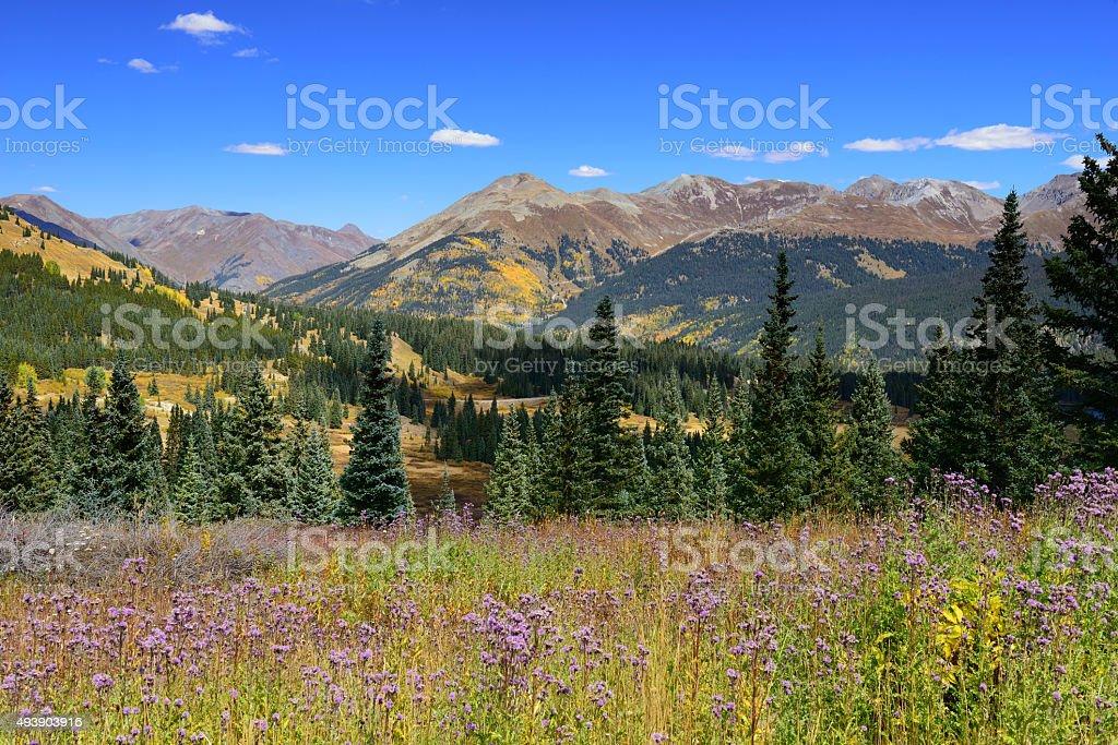 Molas Pass in San Juan Mountains of Colorado stock photo
