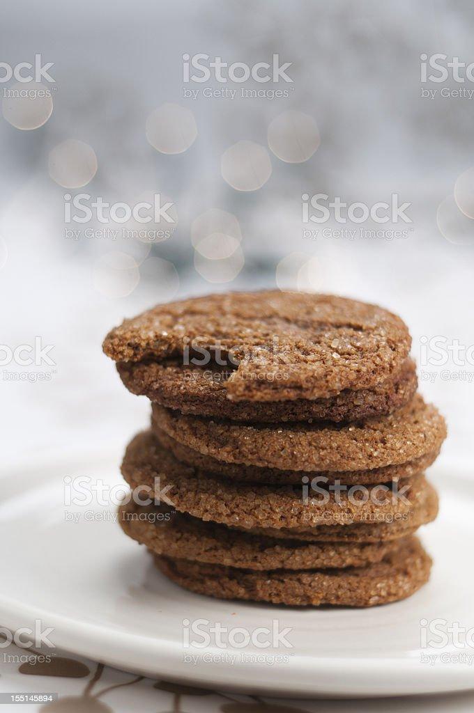 Molasses Cookies stock photo