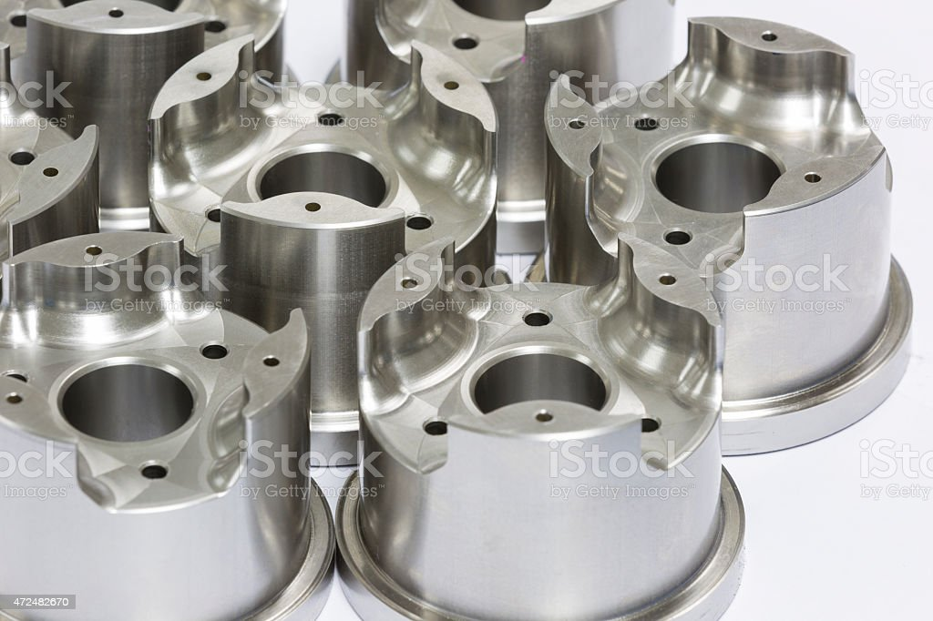 mold and die parts machining by CNC stock photo