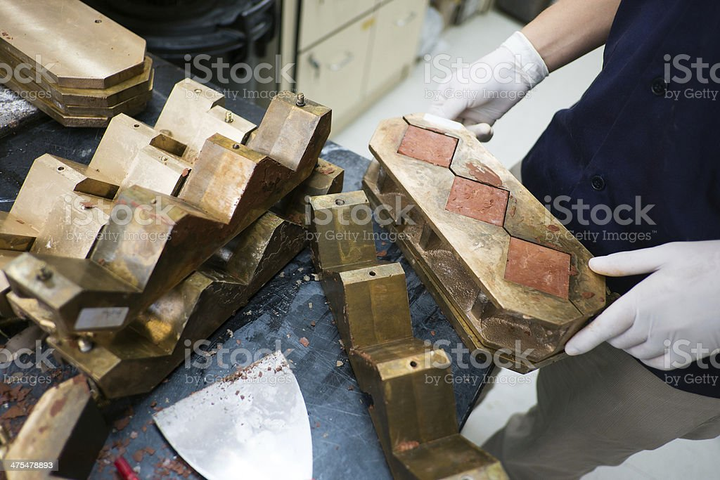 mold brick stock photo