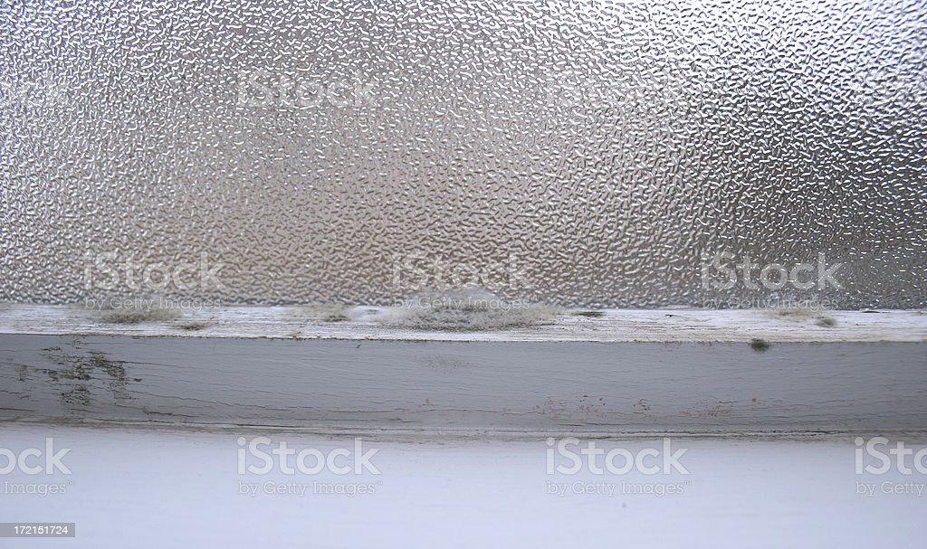 Mold on Window Sill stock photo