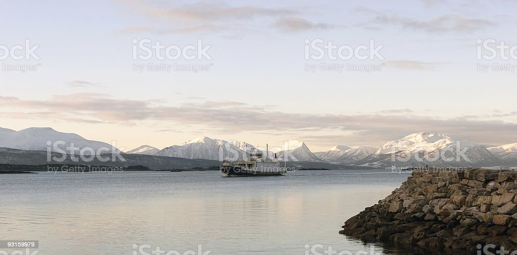 Molde ferry stock photo