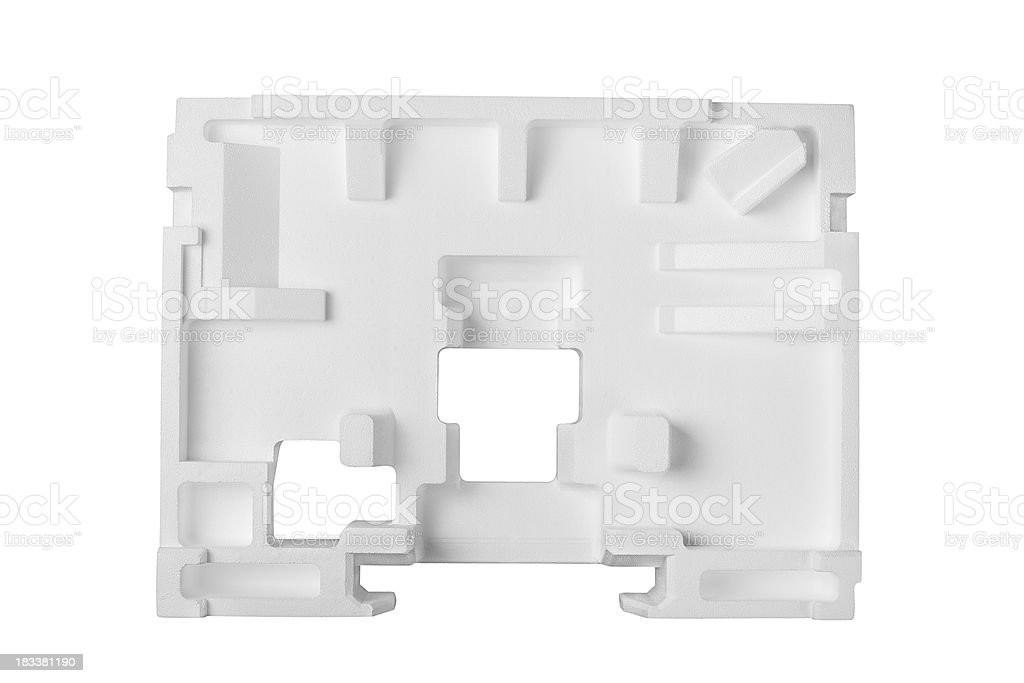 Molded styrofoam polystyrene stock photo