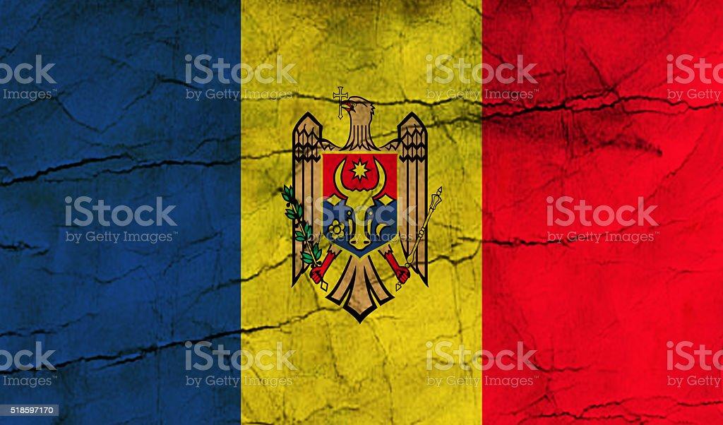 Moldovan grunge flag stock photo