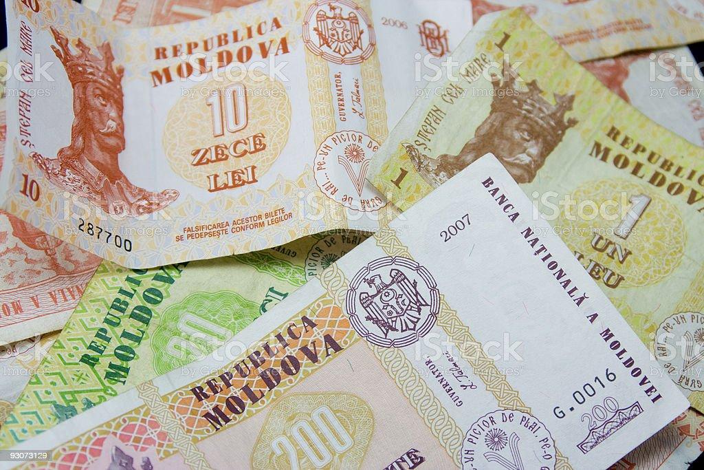 Moldovan money stock photo