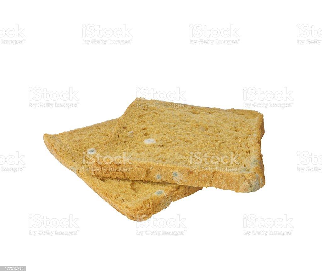Moldy bread royalty-free stock photo