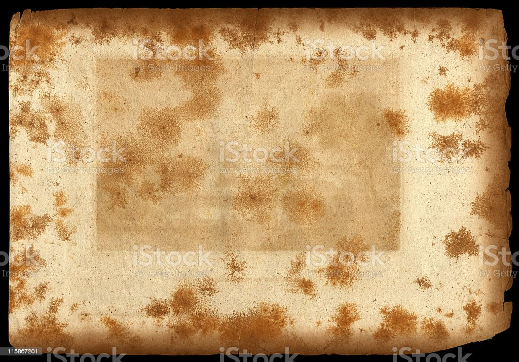 moldy, stained old paper royalty-free stock photo