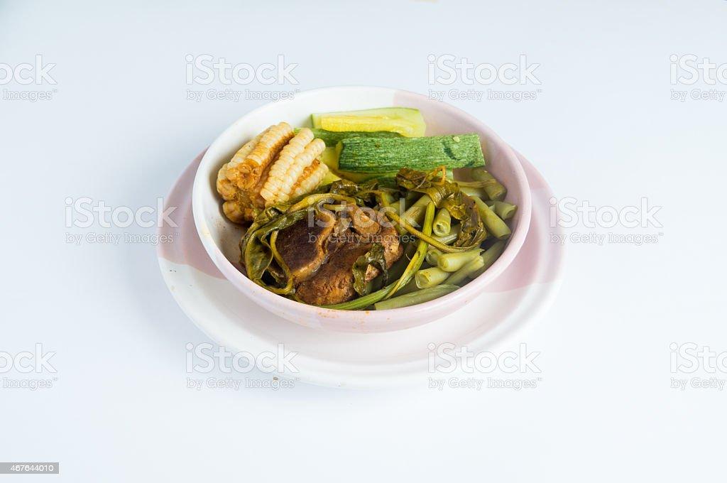 Mole de Olla. Comida Mexicana.  Mexican food. Studio isolated stock photo