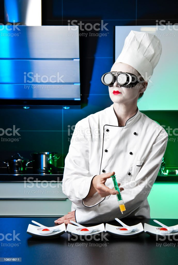 Molecular Chef royalty-free stock photo