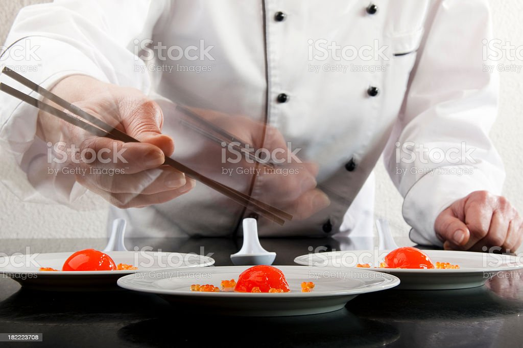Molecular Chef stock photo