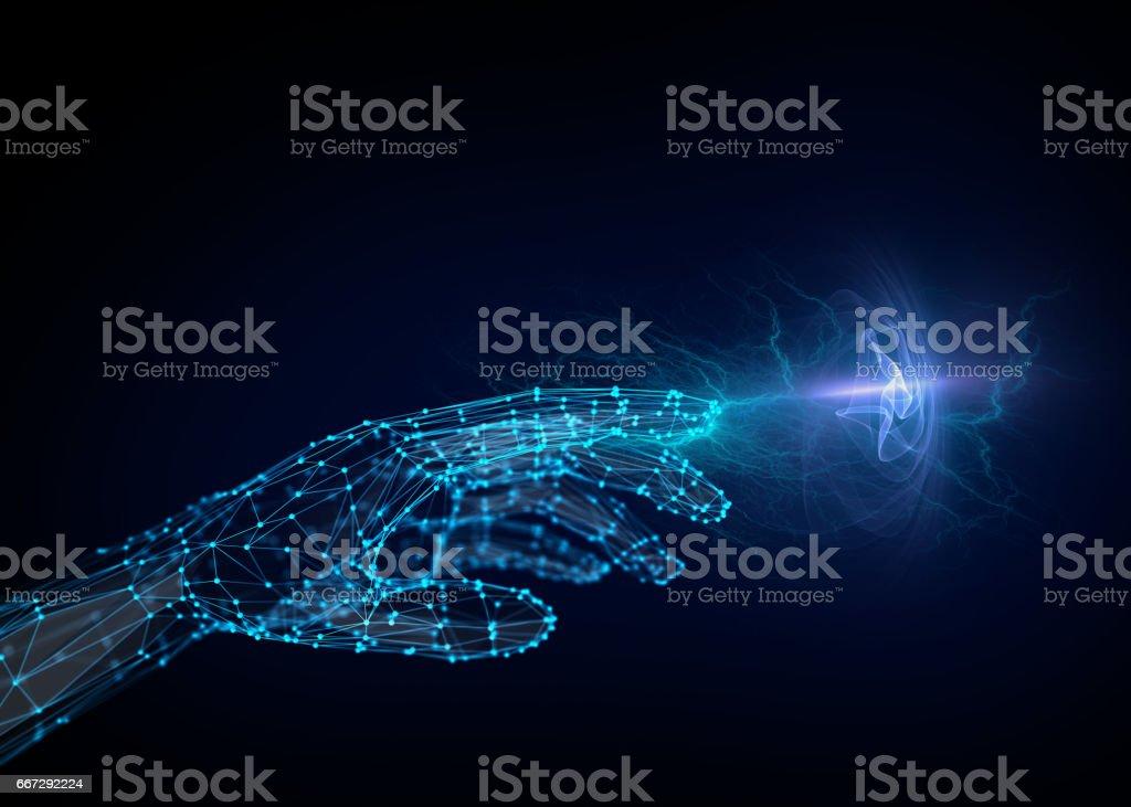 Molecular energy, abstract concept composition stock photo