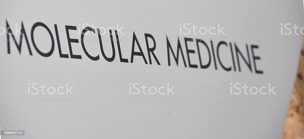 molecular meDicine sign stock photo