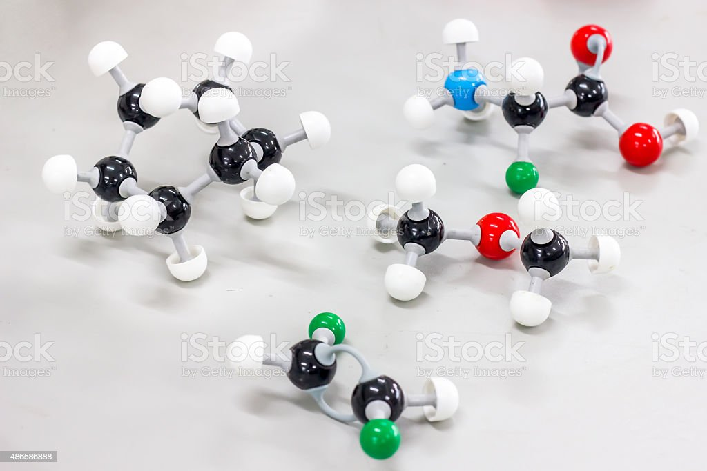 molecular model stock photo