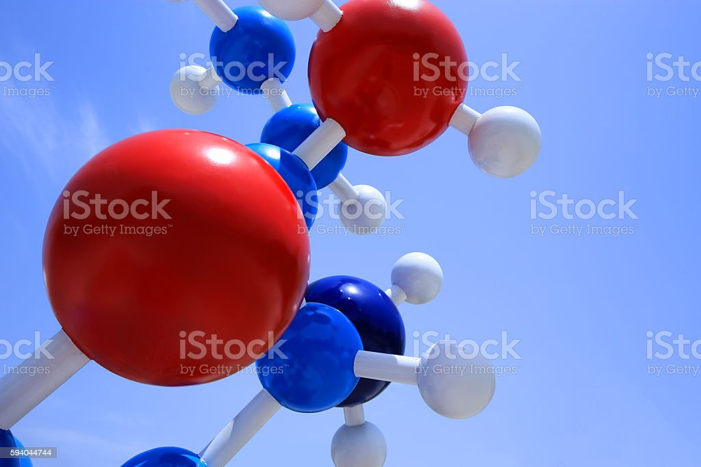 Molecular model stock photo