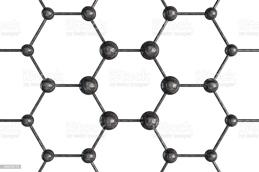 Molecular Structure Isolated stock photo