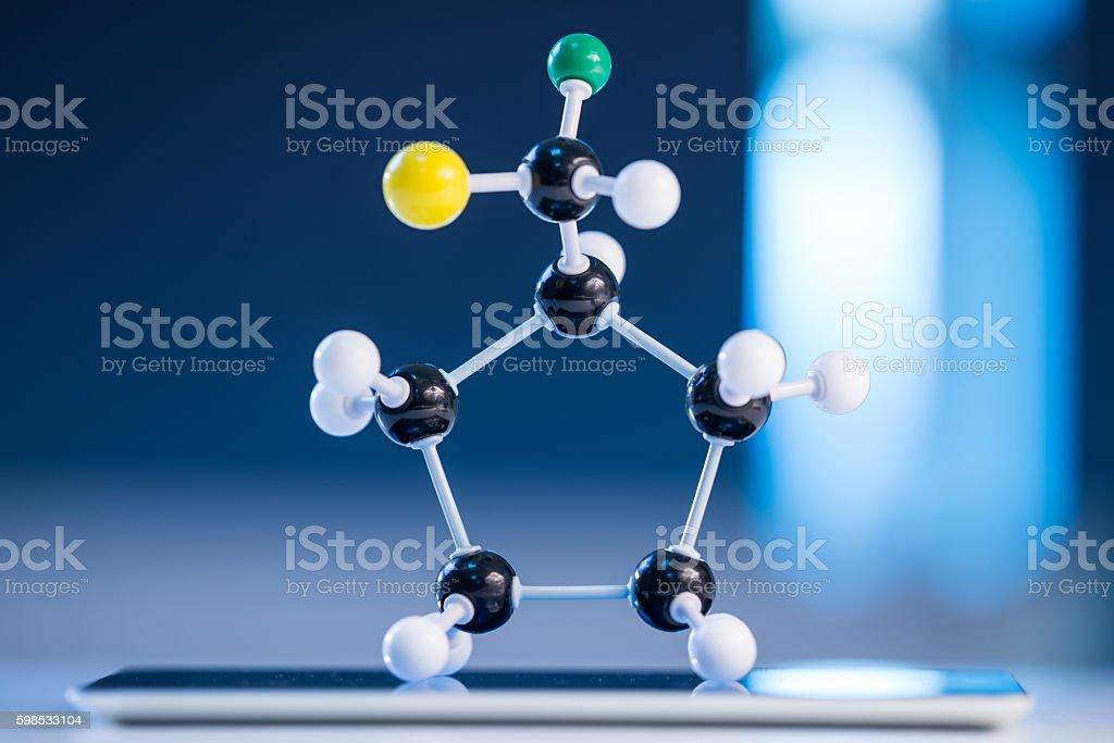 Molecular structure model stock photo