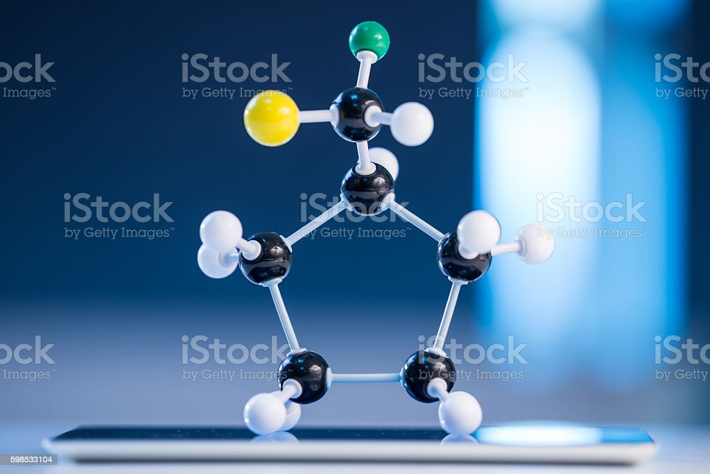 Molecular structure model stock photo