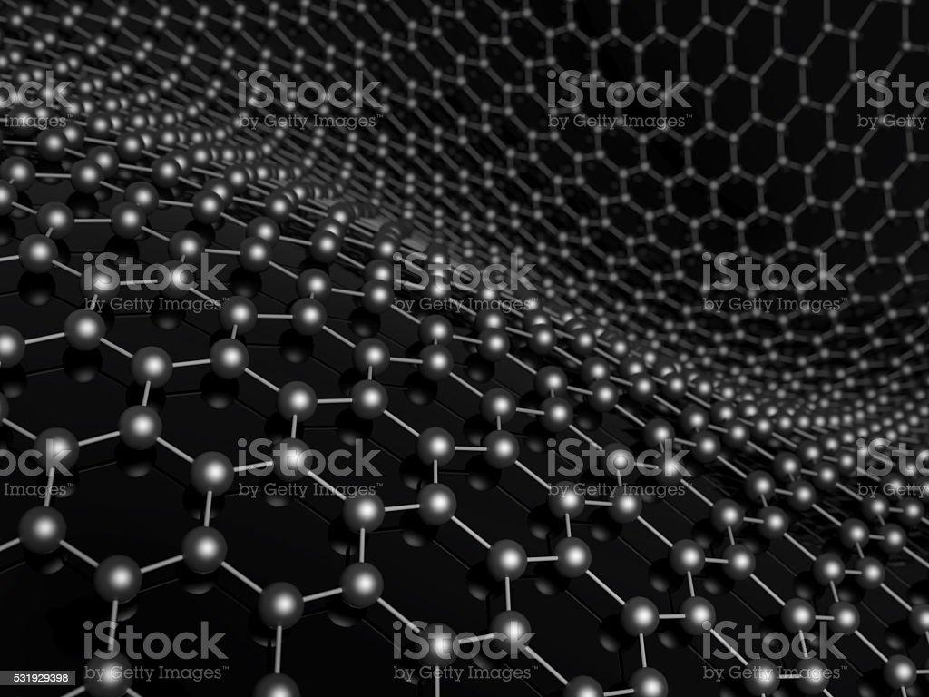 Molecular structure of carbon concept. stock photo