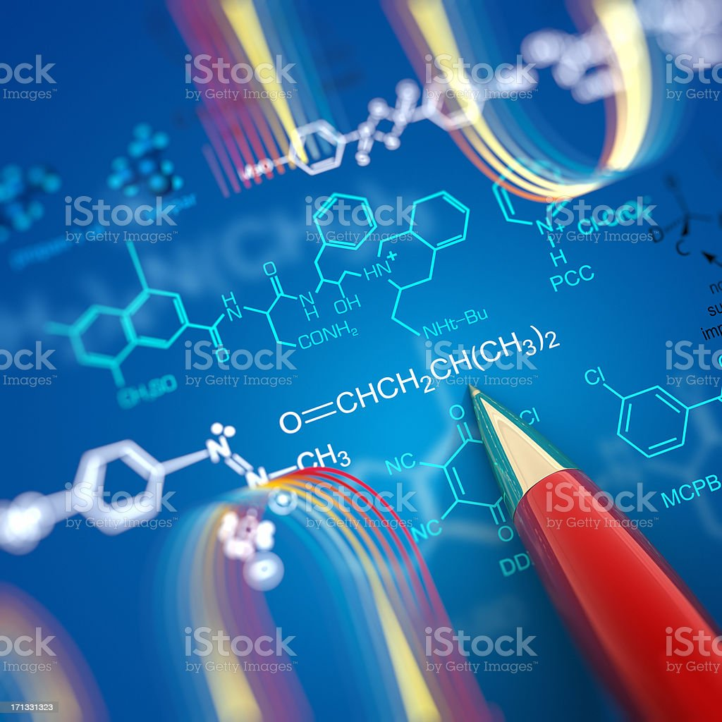 Molecular Structure stock photo