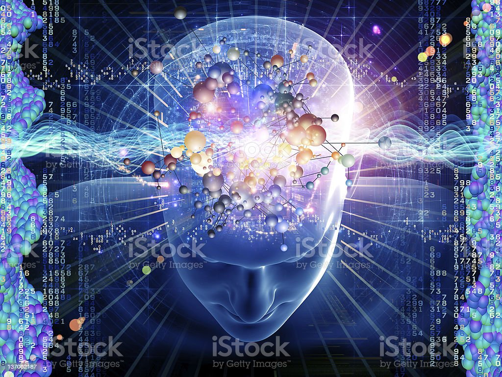 Molecular Thoughts royalty-free stock photo