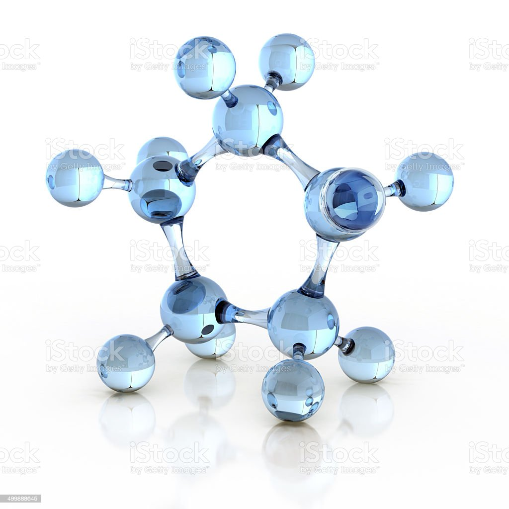 molecule 3d illustration stock photo