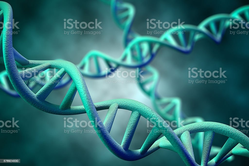 DNA Molecule, 3D Rendering stock photo