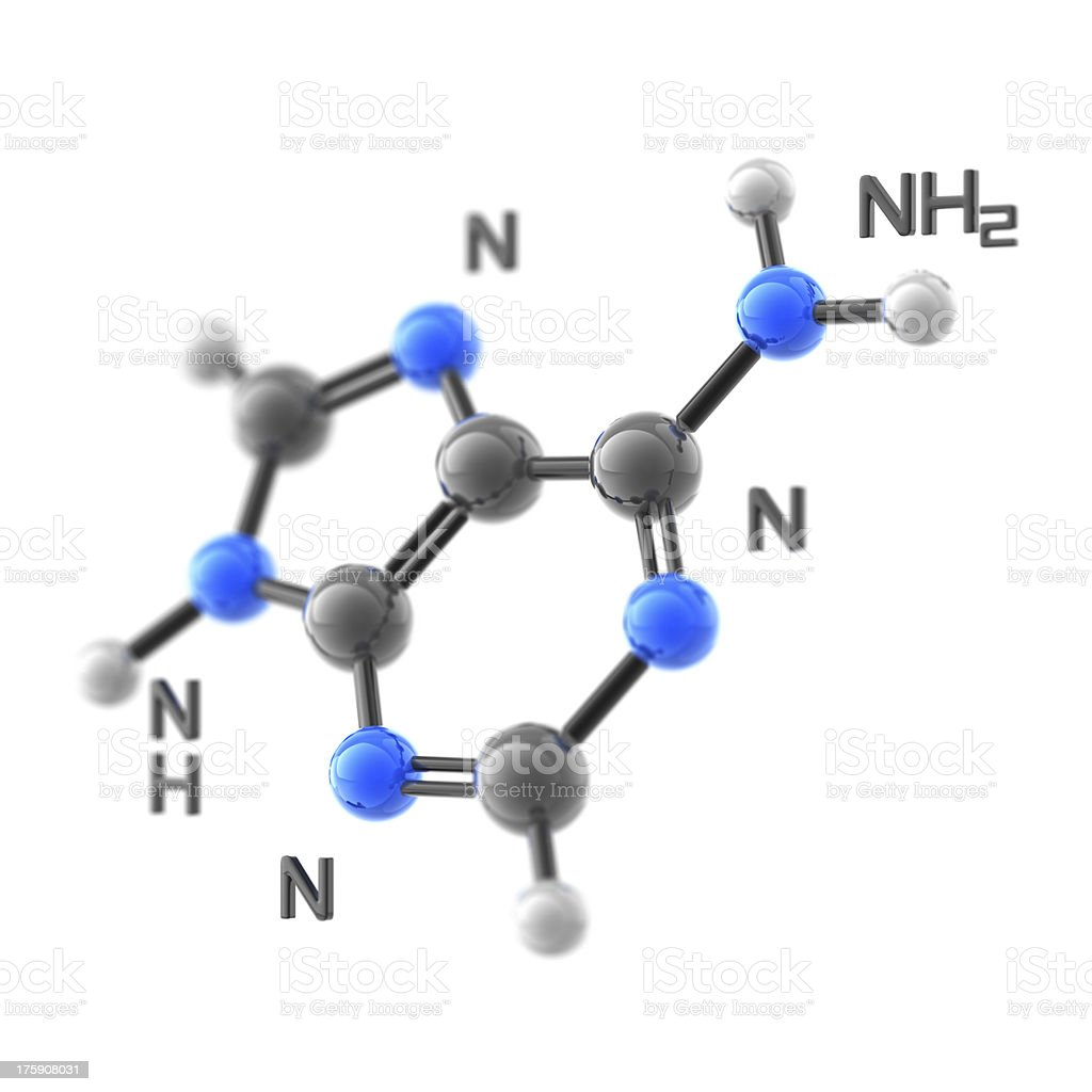 Molecule Adenine stock photo