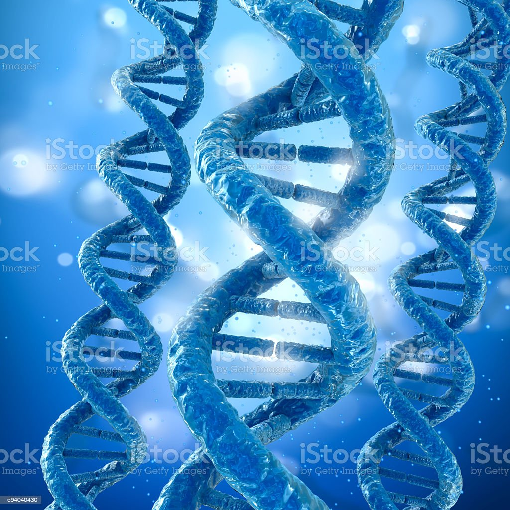 DNA molecule concept, Medical accurate 3D illustration stock photo