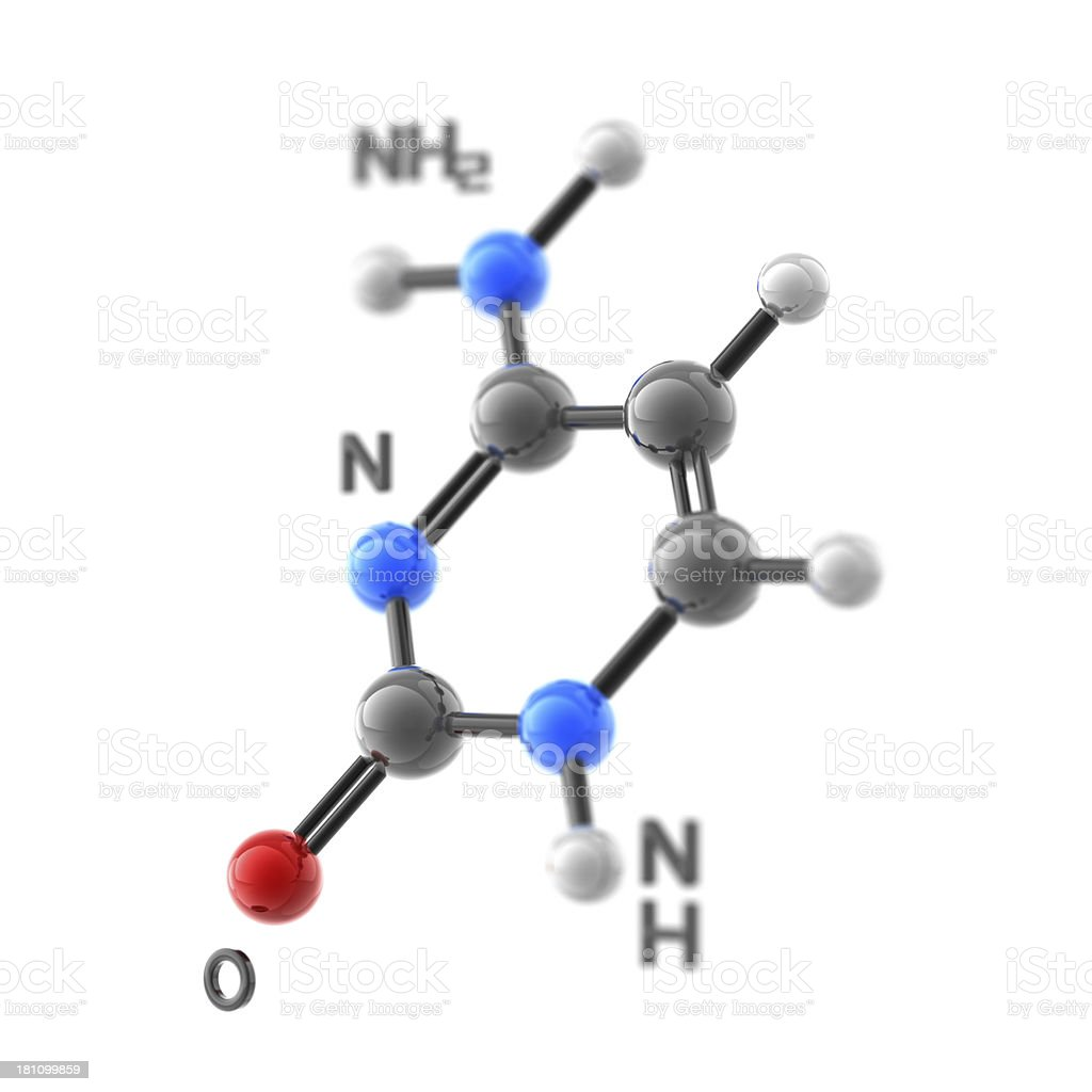 Molecule Cytosine stock photo