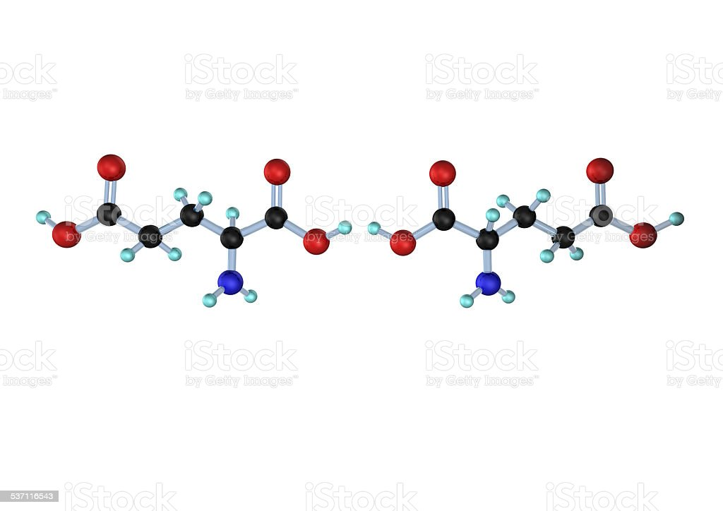 Molecule Glutamic Acid Lan D stock photo