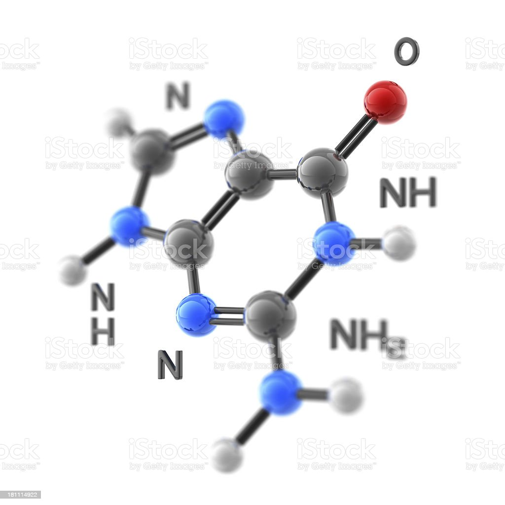 Molecule Guanine royalty-free stock photo