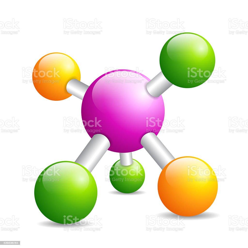 Molecule icon stock photo
