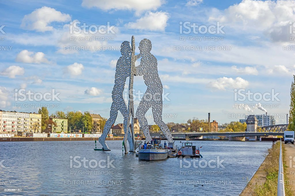 Molecule Man sculpture stock photo