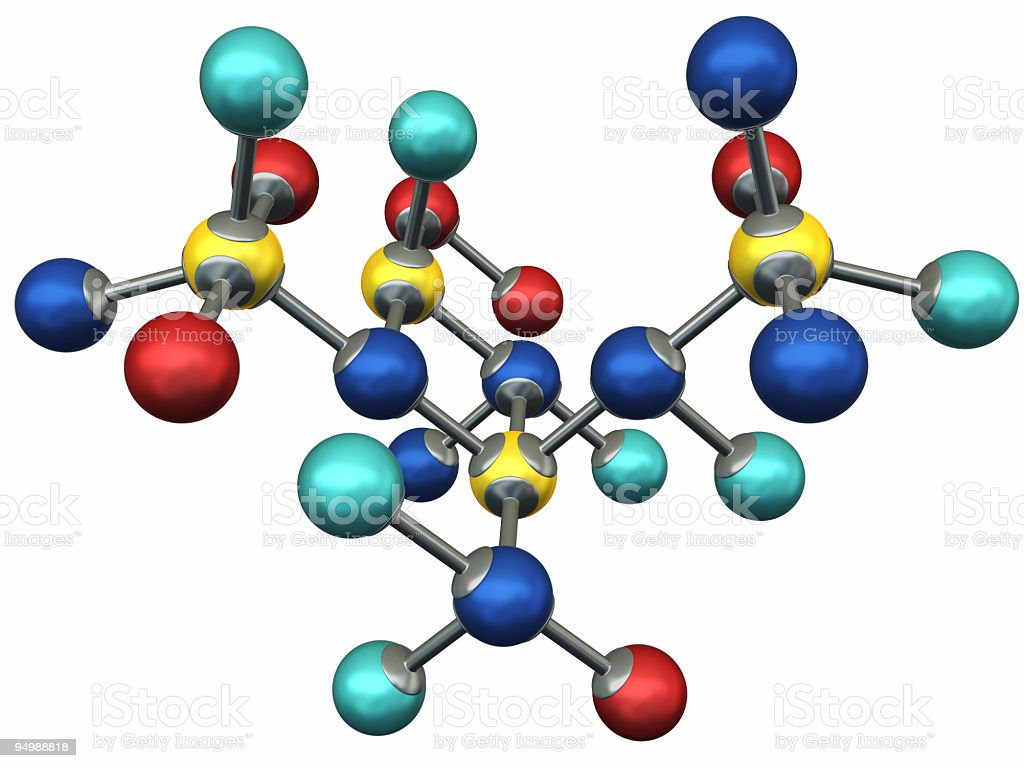 Molecule model royalty-free stock photo