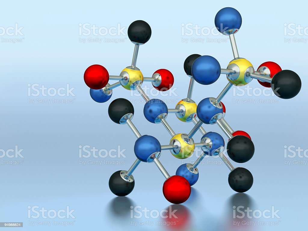 Molecule model royalty-free stock photo