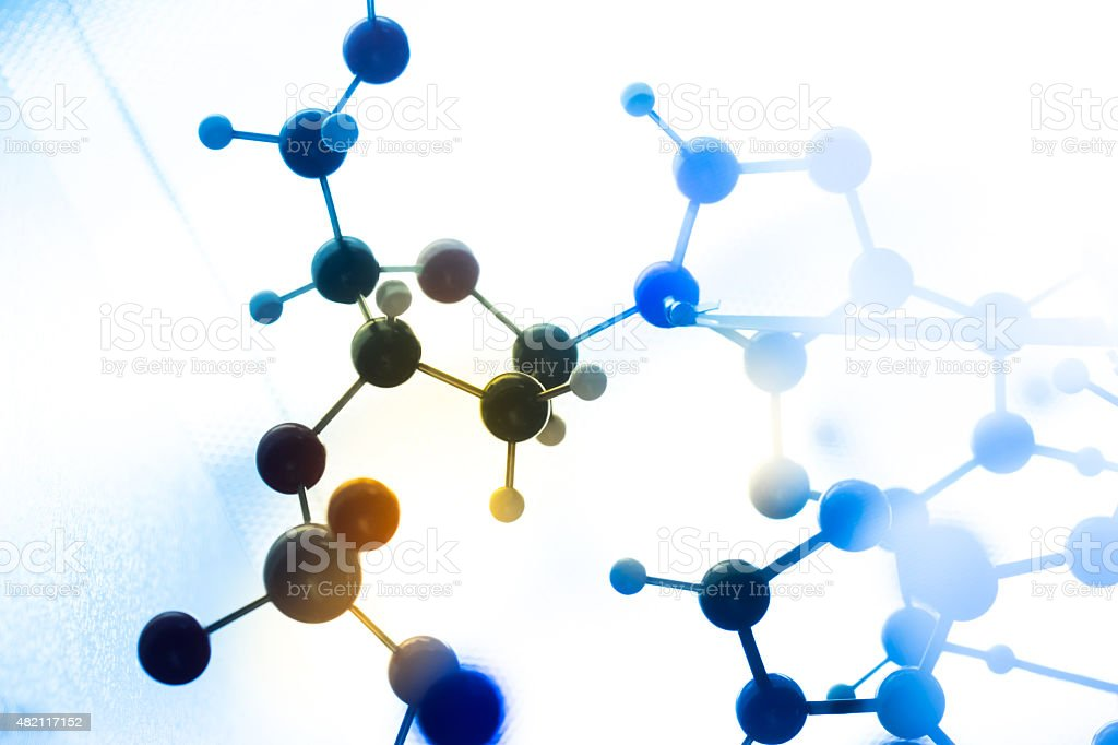 Molecule molecular DNA in a science lab test stock photo