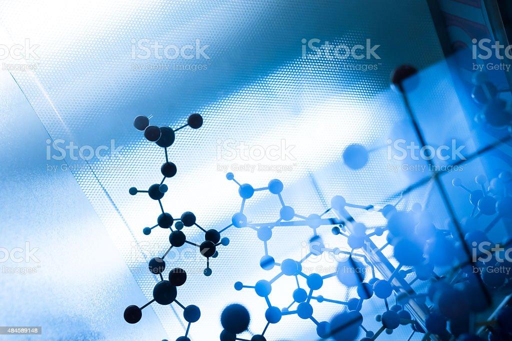 Molecule molecular DNA in a science lab test stock photo