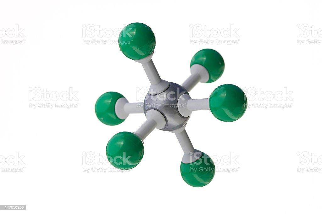 Molecule - Octahedral Shape royalty-free stock photo